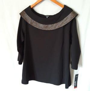 Rafaella Boatneck 3/4 length Sleve Knit Top